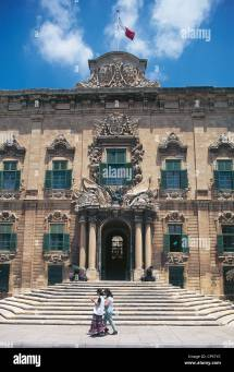 Malta - Valletta. Hotel Of Castile And Leon Stock