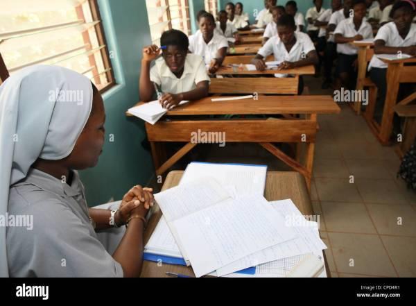 Africa School Classroom Stock &