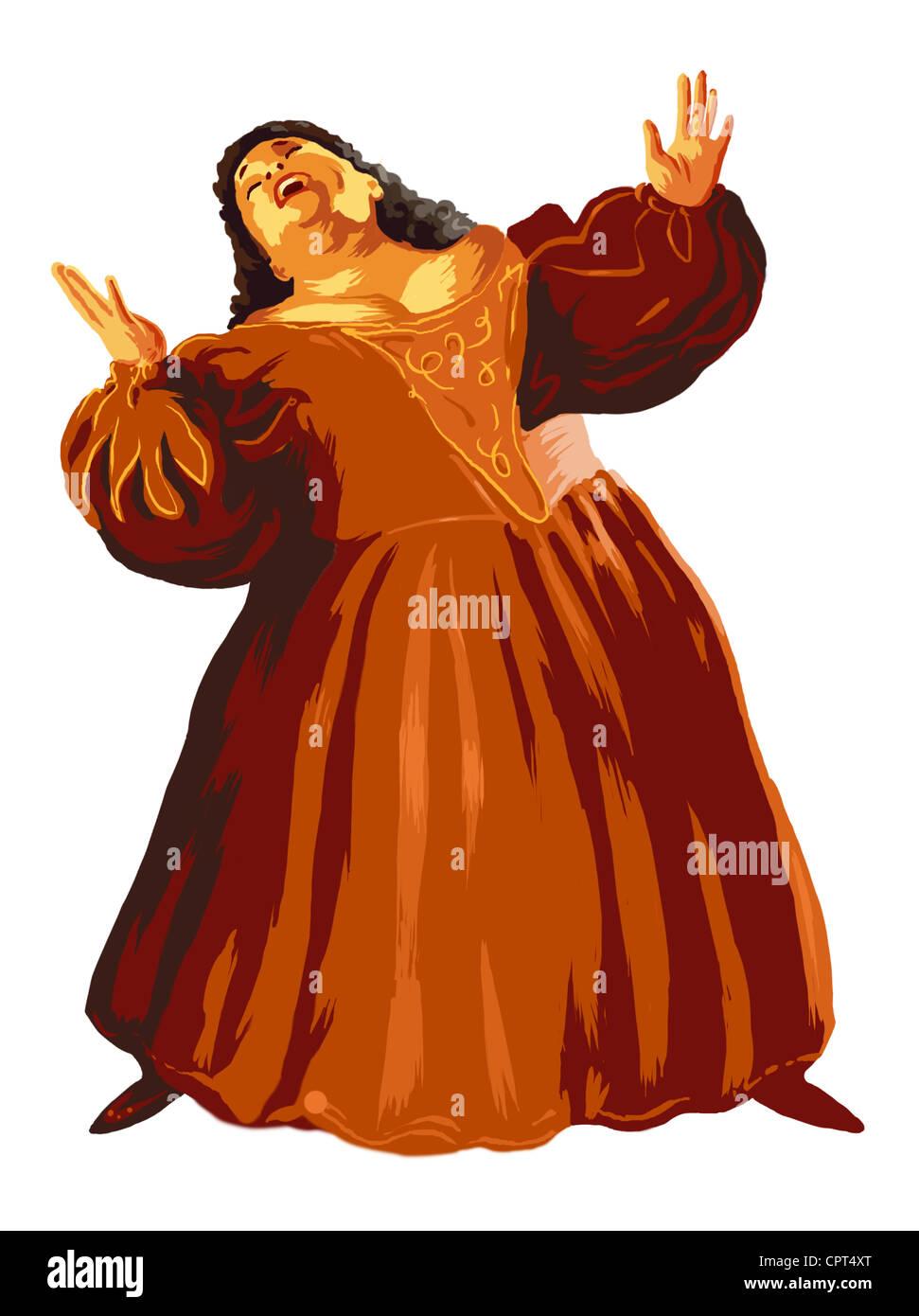 medium resolution of an opera singer stock image