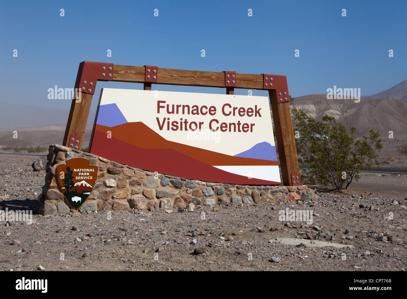 Furnace Creek Visitor Center Death Valley Stock Photo