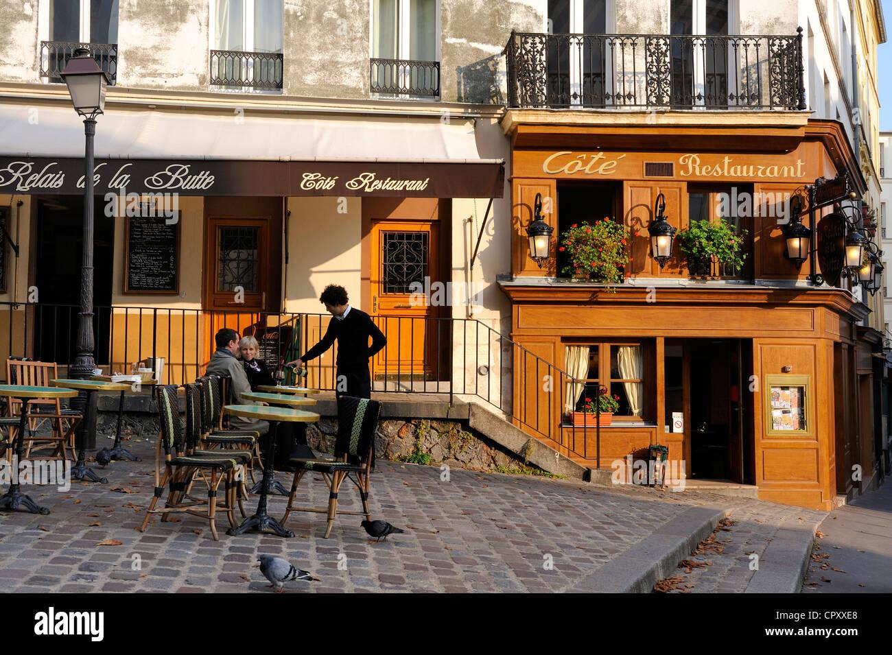 https www alamy com stock photo france paris la butte montmartre terrace of cafe de la butte square 48534704 html