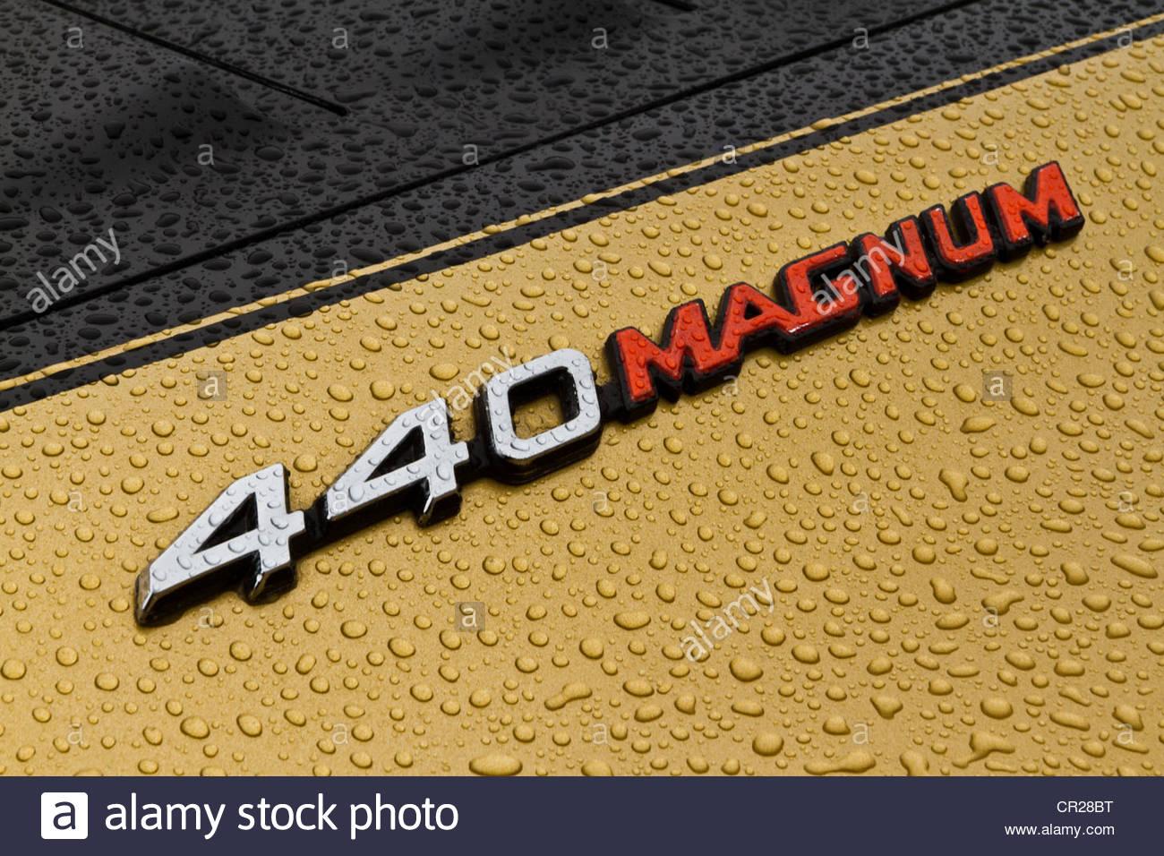 hight resolution of dodge charger 440 magnum emblem stock image