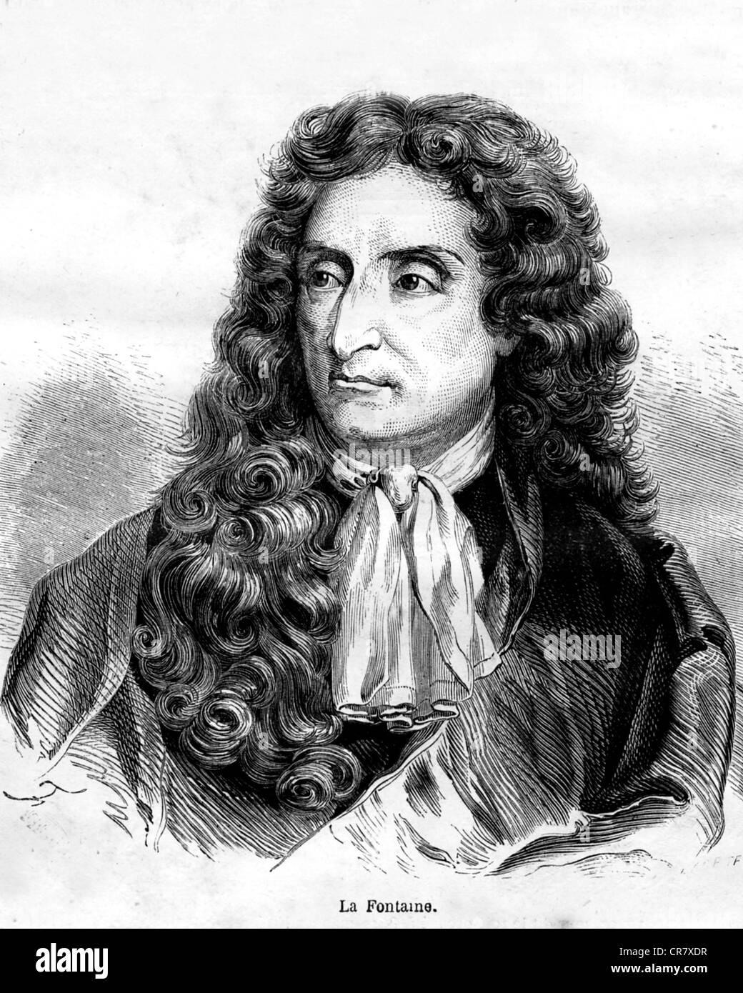 Jean De La Fontaine Charles De La Fontaine : fontaine, charles, Fontaine,, 1695,, French, Writer,, Historical, Portrait, Stock, Photo, Alamy