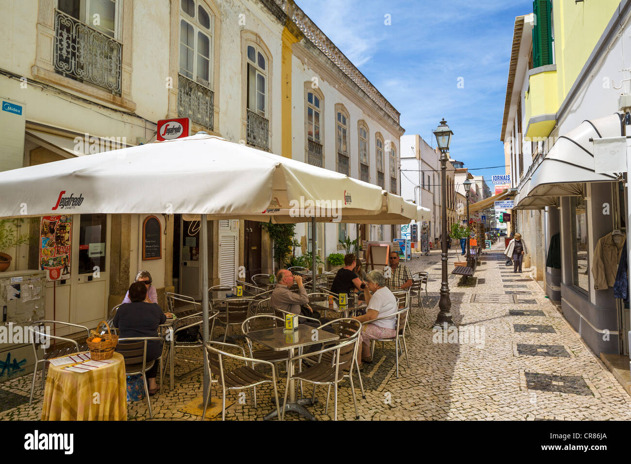 elderly chairs bedroom chair dfs street cafe and shops in the old town, silves, algarve, portugal stock photo: 48738658 - alamy