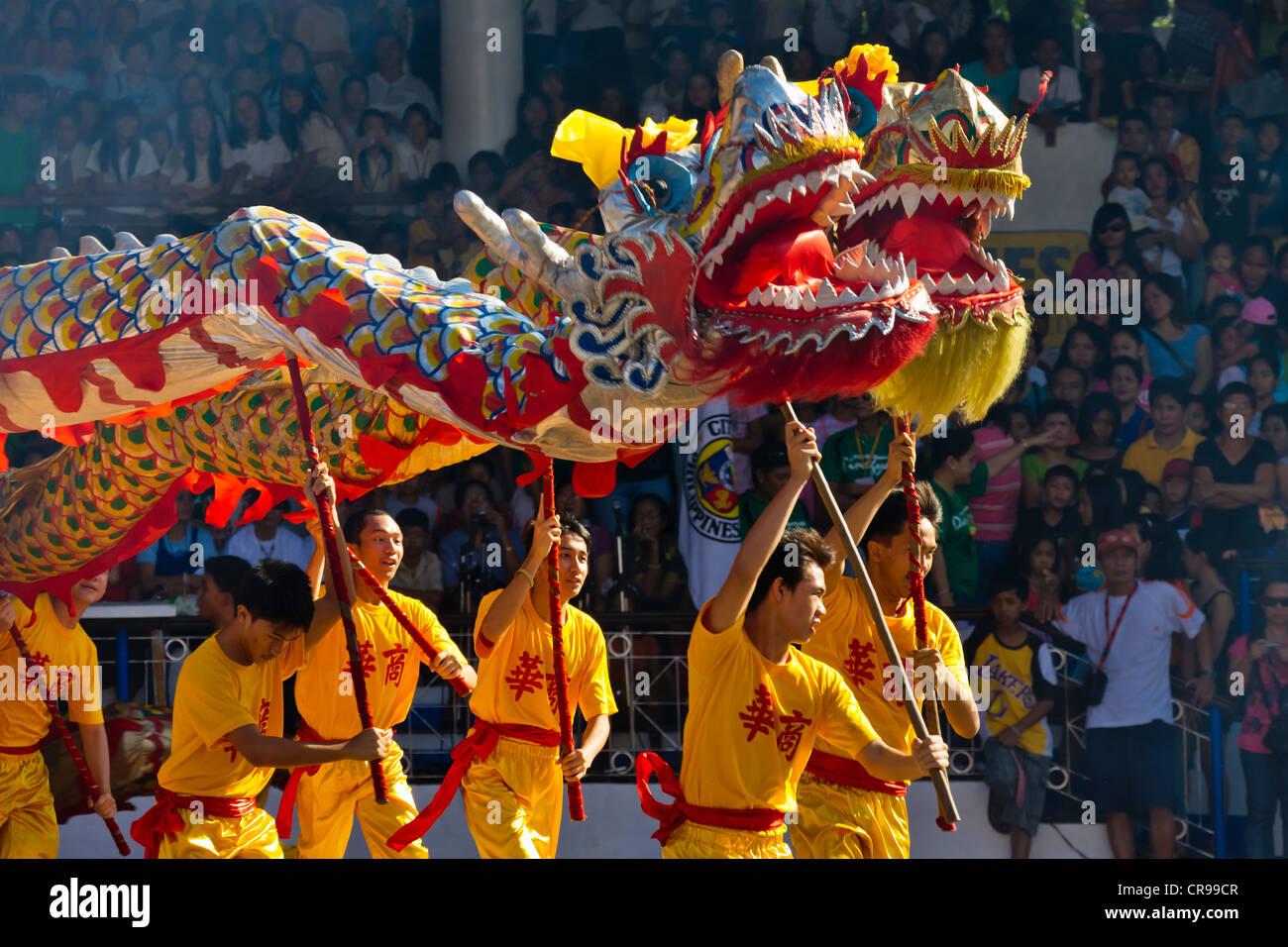 dragon dance performance celebrating