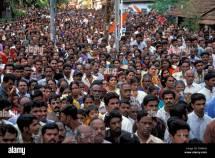 Crowd Of People Varkala Kerala South India Asia