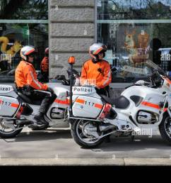 policemen with bmw r1150rt motorbikes built in 2003 and 2004 city police of zurich [ 1300 x 955 Pixel ]