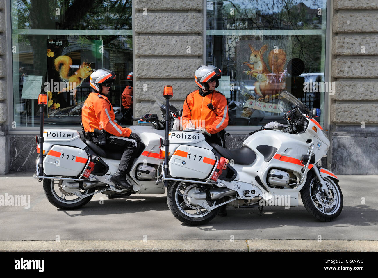 hight resolution of policemen with bmw r1150rt motorbikes built in 2003 and 2004 city police of zurich