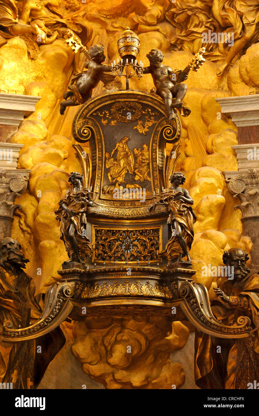 Cathedra Petri Chair of Saint Peter by Bernini in the