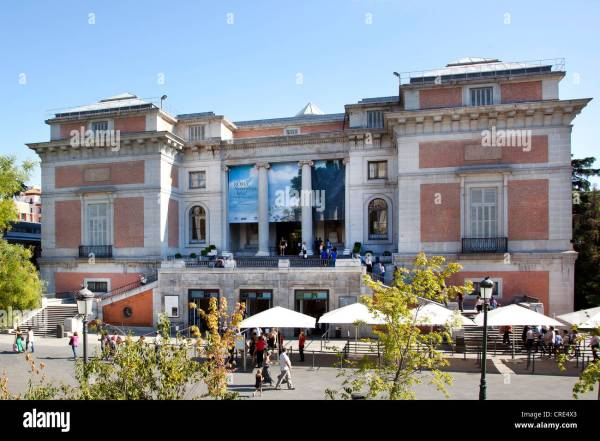 Prado Entrance Museum Madrid Stock &
