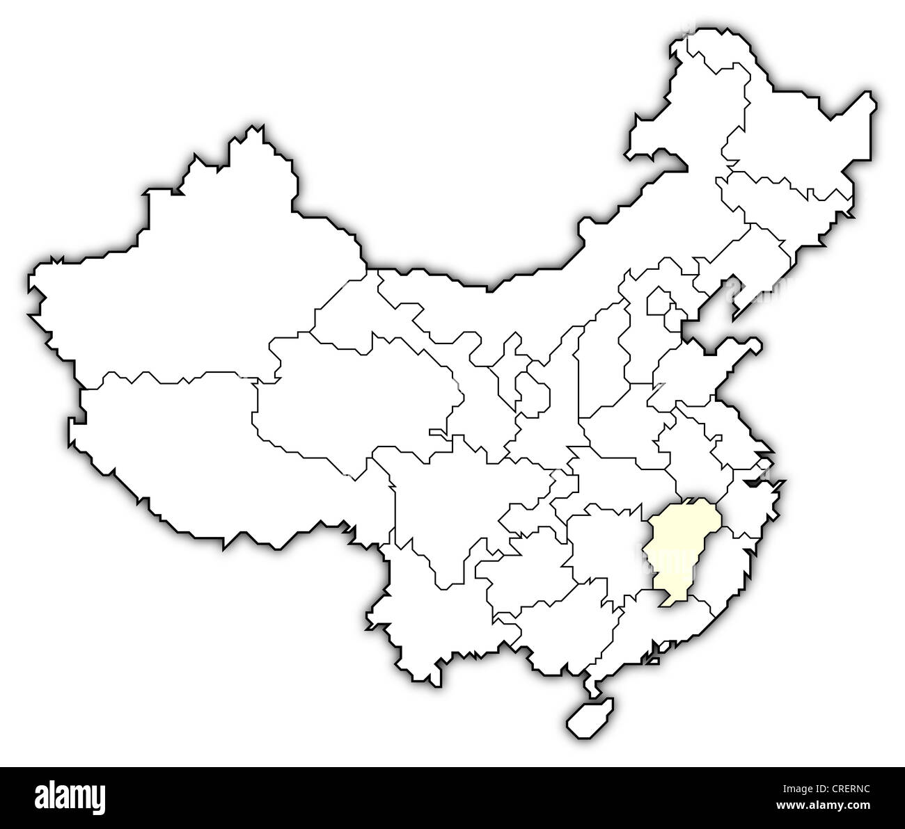 Political Map Of China With The Several Provinces Where