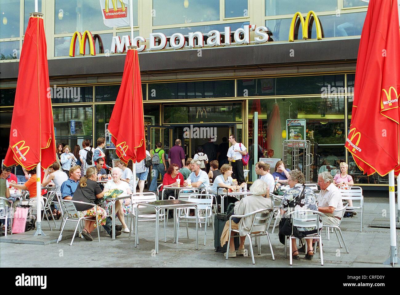 McDonald's At The Zoo Station Berlin Germany Stock Photo