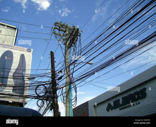 small resolution of mess of electric cables and telephone wires panama colon