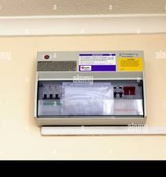 domestic electricity fusebox installed into a uk flat stock photodomestic electricity fusebox installed into a uk [ 1300 x 955 Pixel ]