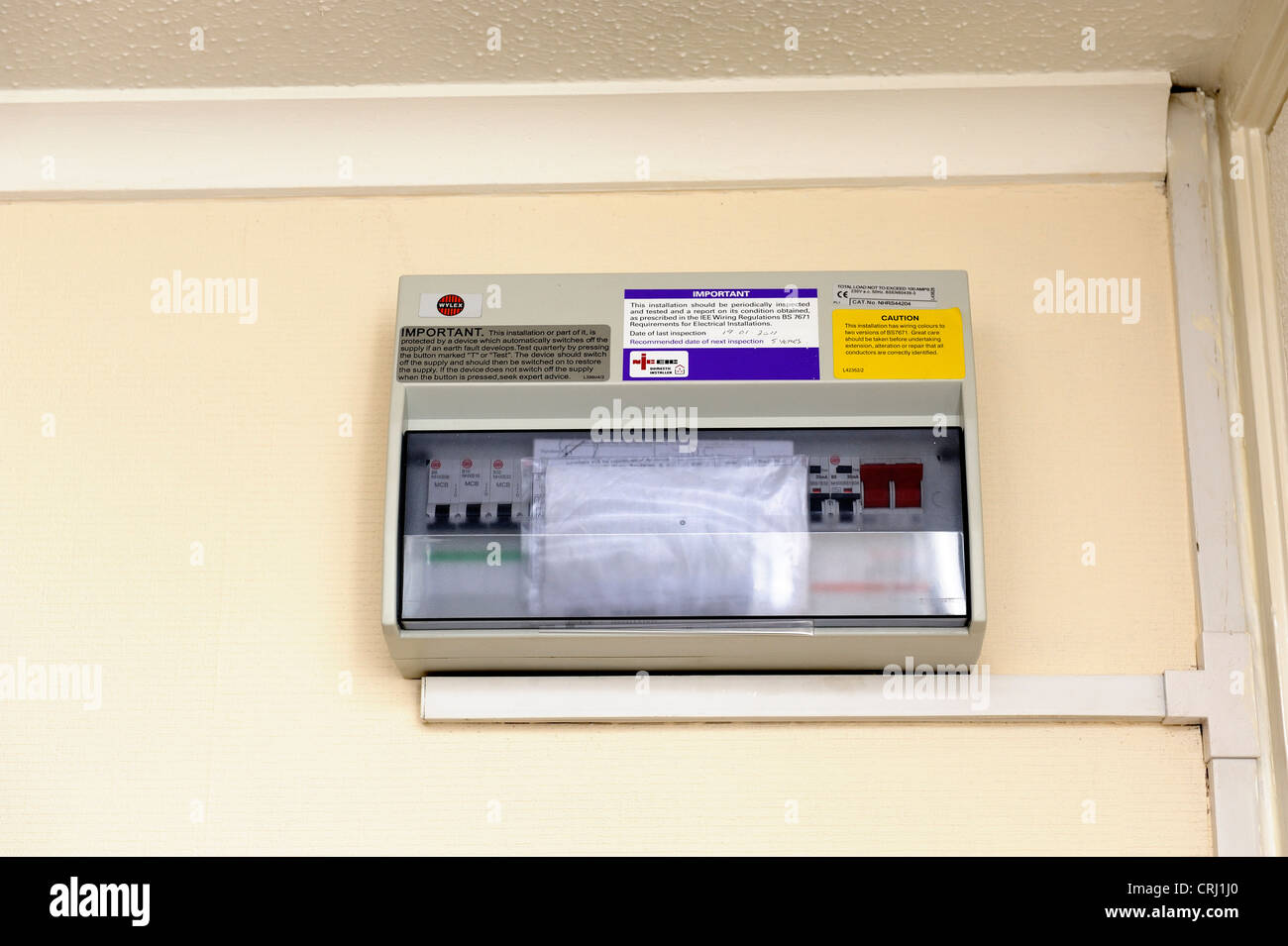 hight resolution of domestic electricity fusebox installed into a uk flat stock photodomestic electricity fusebox installed into a uk