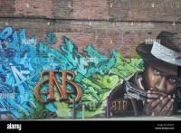 Wall Graffiti art on brick wall Stock Photo, Royalty Free ...