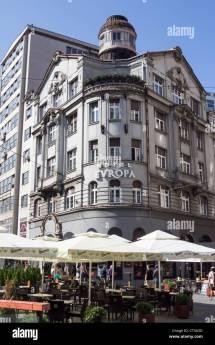 Belgrade City In Serbia. Hotel Europa Terazije Street