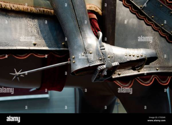 Ohio Cleveland. Cleveland Museum Of Art. Steel Armor Boot Stock Royalty Free