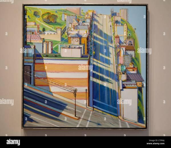 """san Francisco West Side Ridge"" Wayne Thiebaud 1992 Stock 49520090 - Alamy"