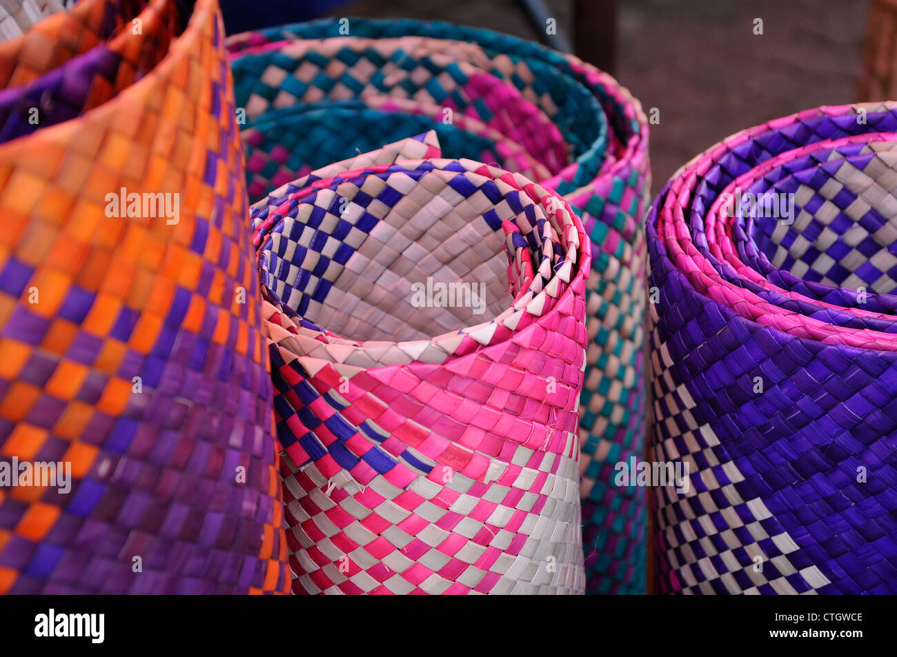 straw mat stock photos