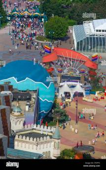 Disneyland Paris Aerial View Stock &