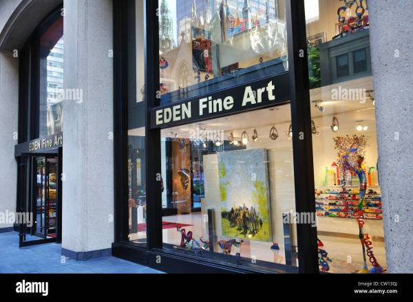 Eden Fine Art Store And York Usa Stock Royalty Free 49811906 - Alamy