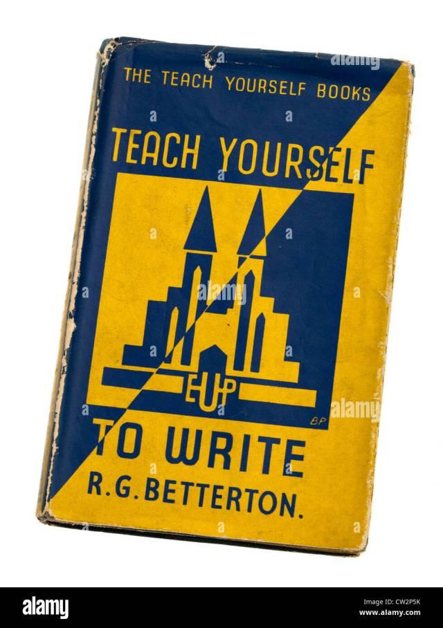Teach Yourself book on writing Stock Photo - Alamy
