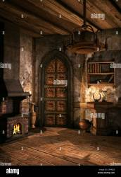 Fireplace Medieval Style High Resolution Stock Photography and Images Alamy