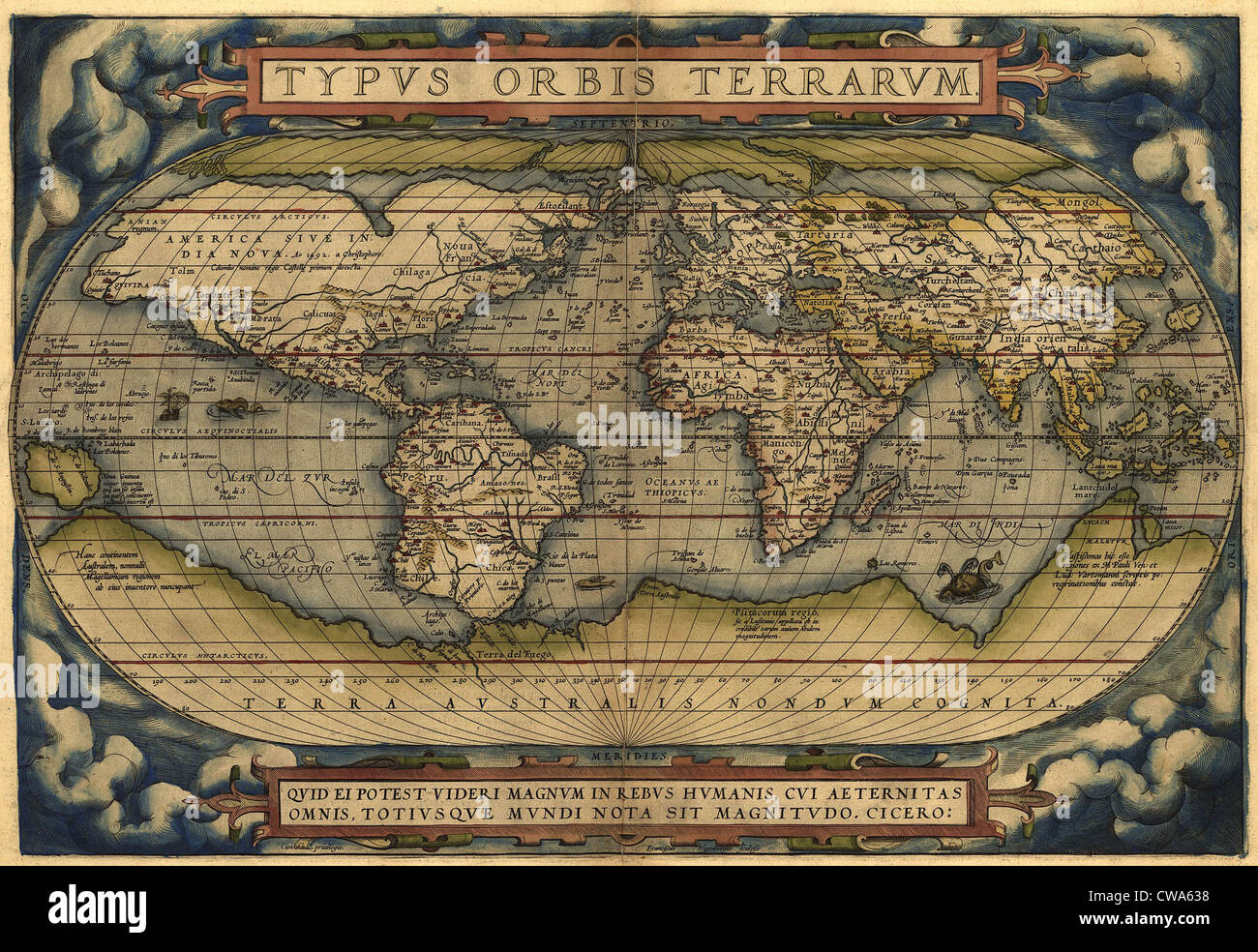 16th Century World Map High Resolution Stock Photography And Images Alamy