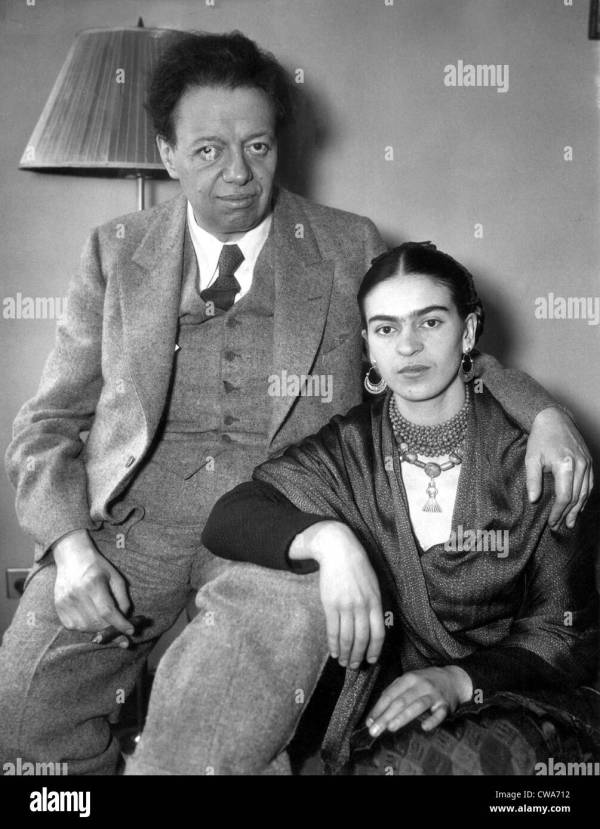 Shows Diego Rivera And Wife Frida Kahlo In