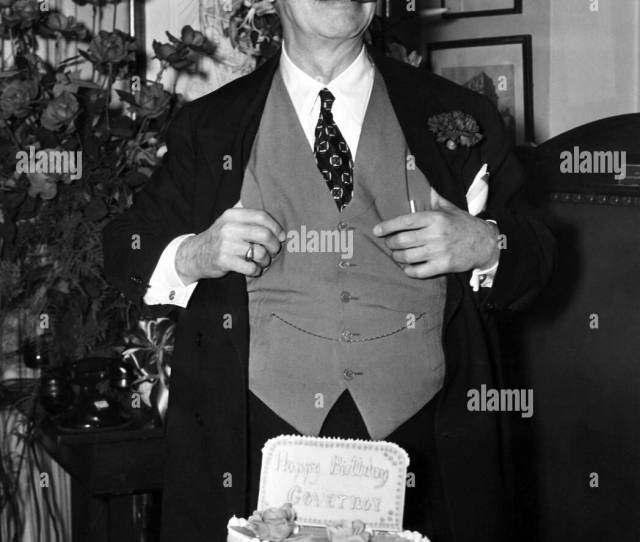 Former Governor Of New York Alfred E Smith 1873 1944 Celebrating His 67th Birthday At His Empire State Building Office In