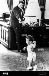 John F. Kennedy and son John F. Kennedy Jr., in Oval ...