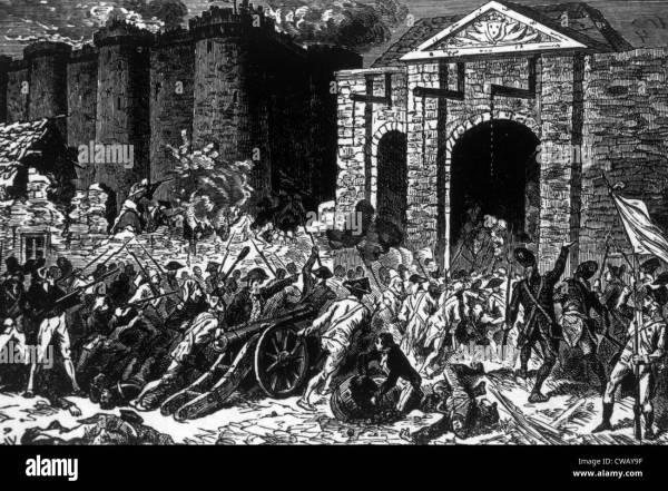 Storming Of Bastille Paris July 14 1789 Stock