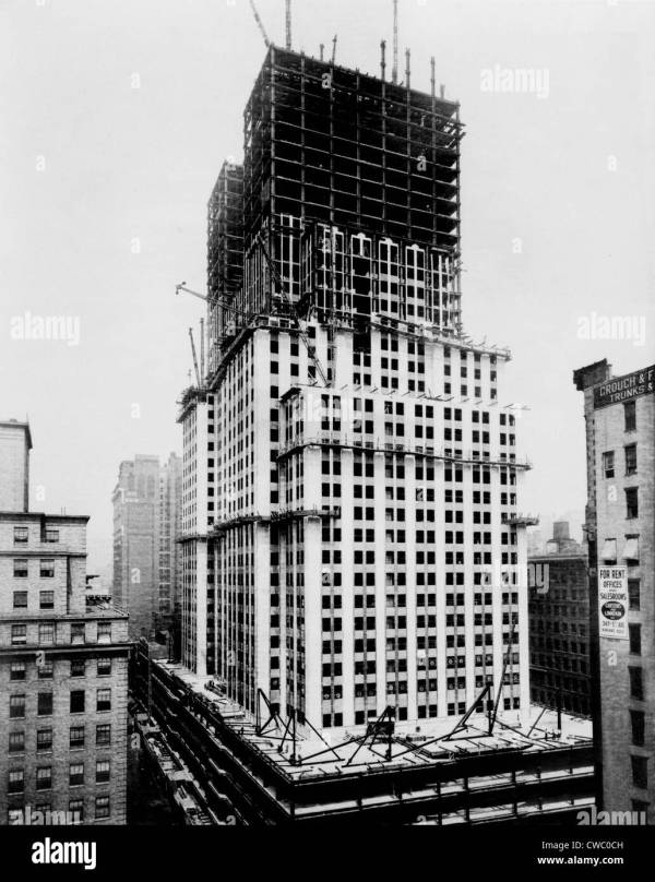 Empire State Building Under Construction In Early 1930s. Stock 50050913 - Alamy