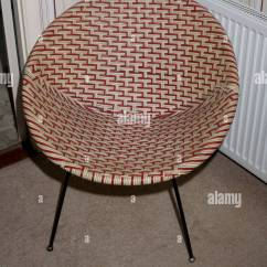 Half Circle Chair Where To Rent Chairs A Semi Wicker With Lattice Red And White Design Stock