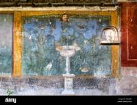 Ancient Roman mural at the Roman city of Pompeii depicting ...