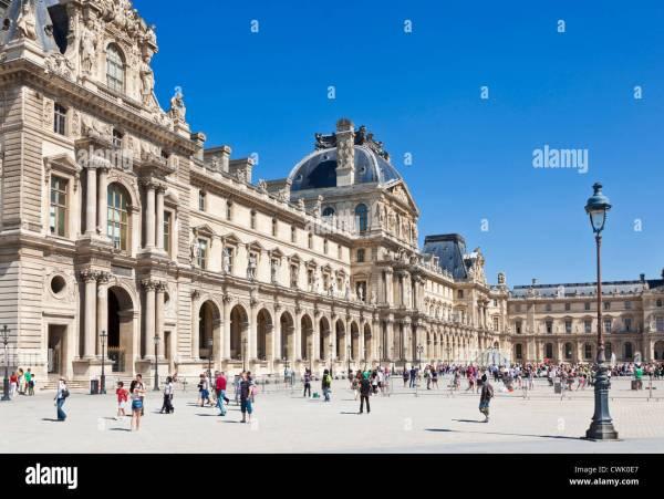 Louvre Paris Museum Outside