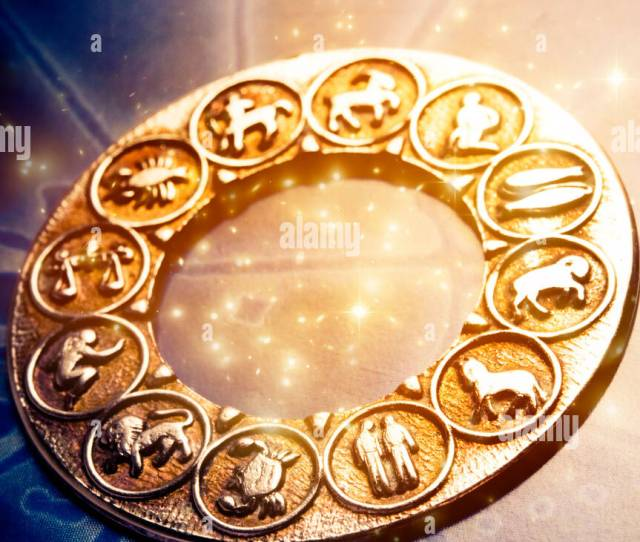 Astrological Wheel With Zodiac Signs Stock Image