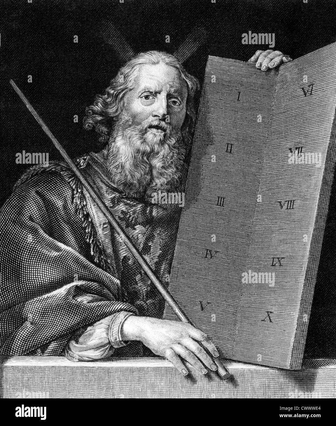 Moses With The Tablets Of The Ten Commandments On