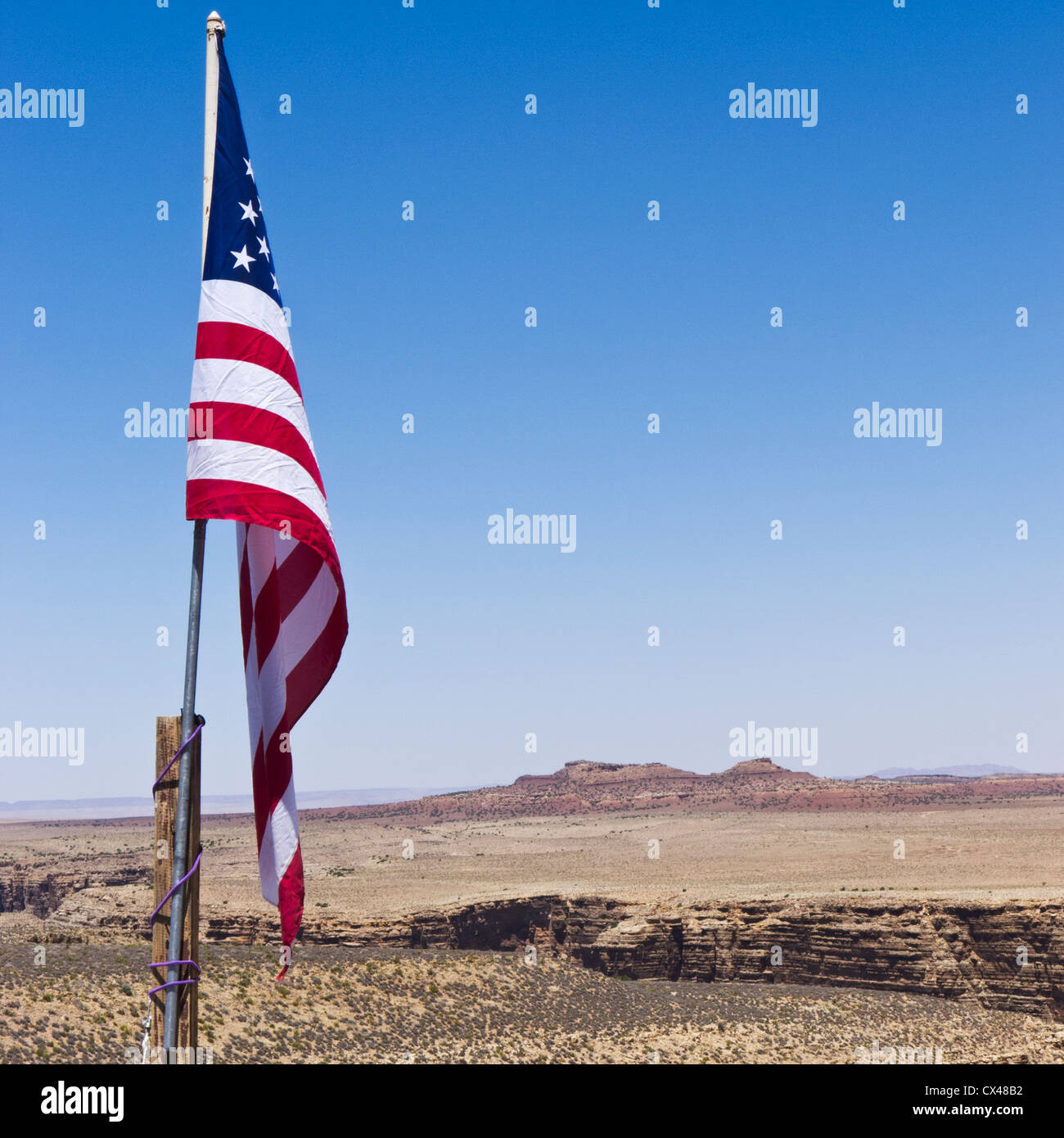 american flag against the