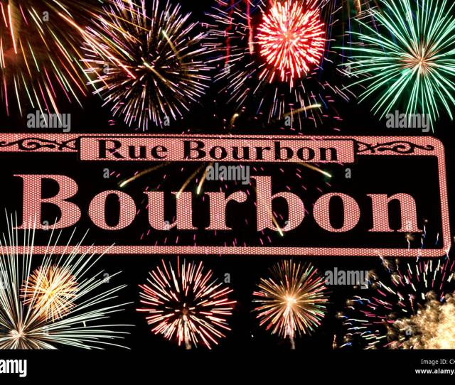 Bourbon Street Sign French Quarter Downtown New Orleans Louisiana Usa