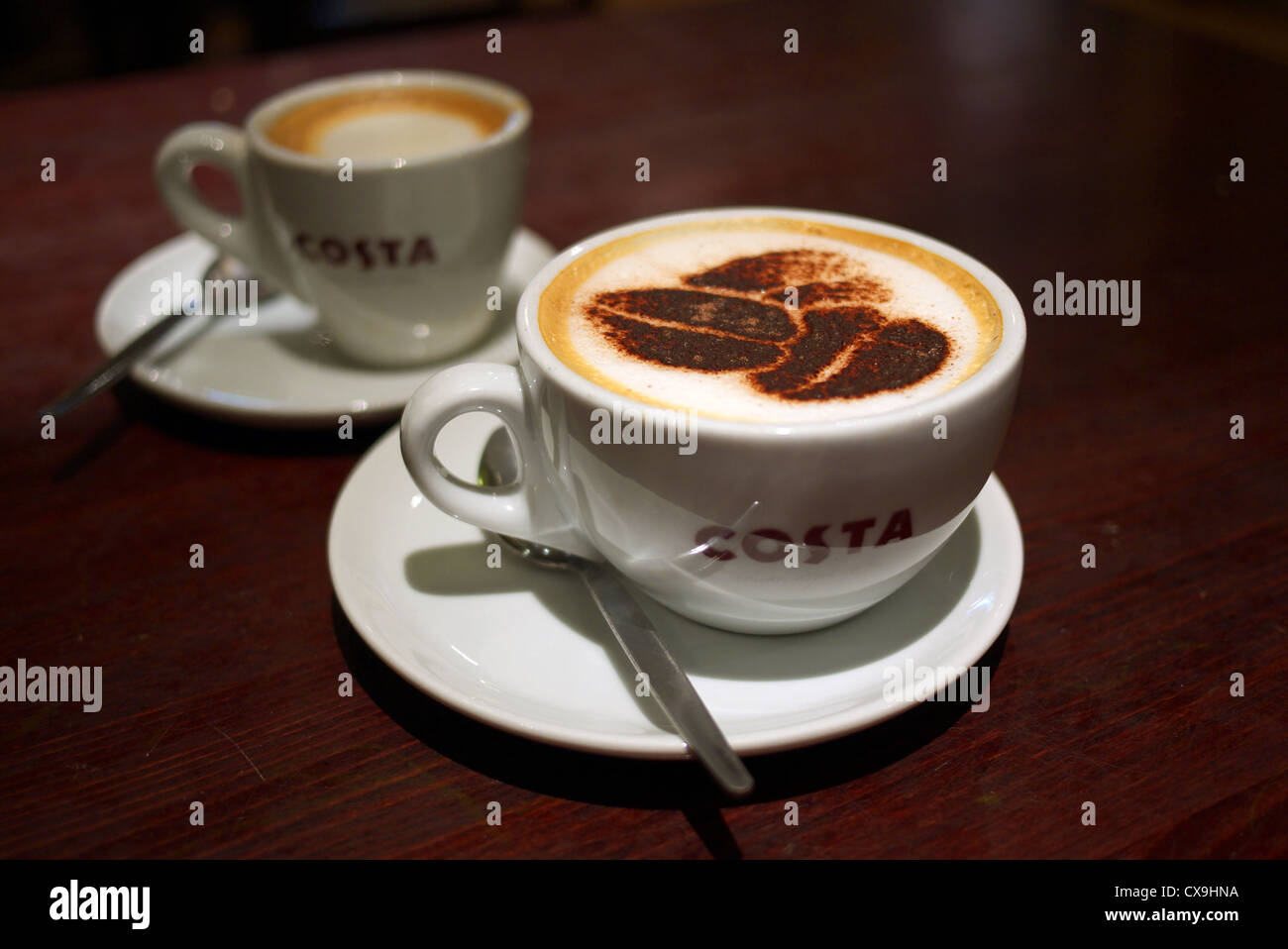 costa coffee cups stock