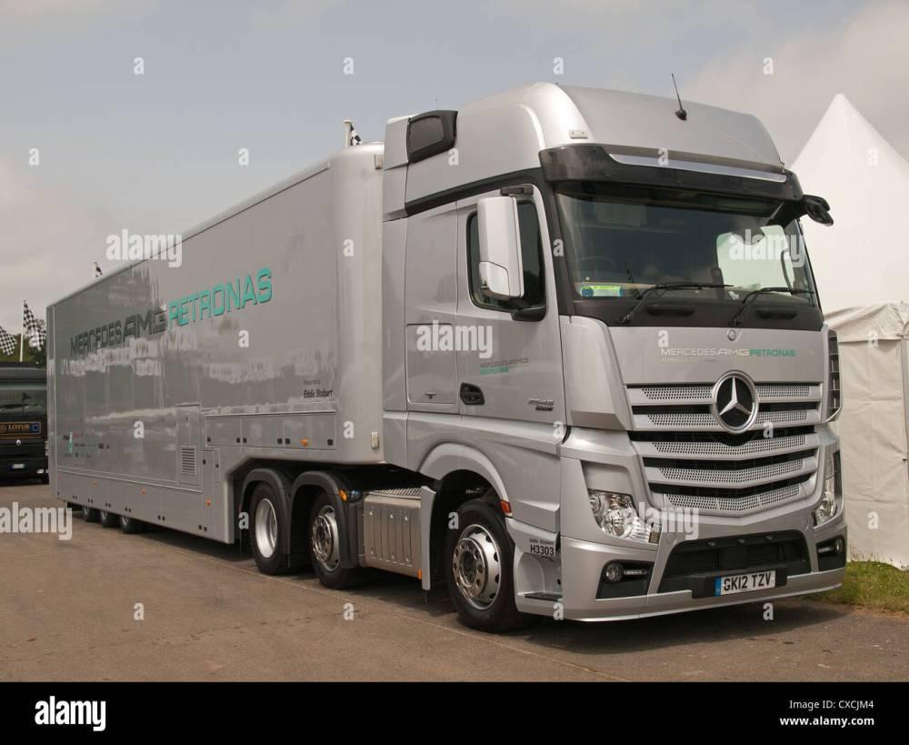 medium resolution of mercedes amg petronas team f1 truck goodwood festival of speed england uk 2012