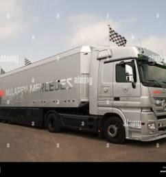 vodafone mclaren mercedes team f1 truck goodwood festival of speed england uk 2012 [ 1300 x 1065 Pixel ]