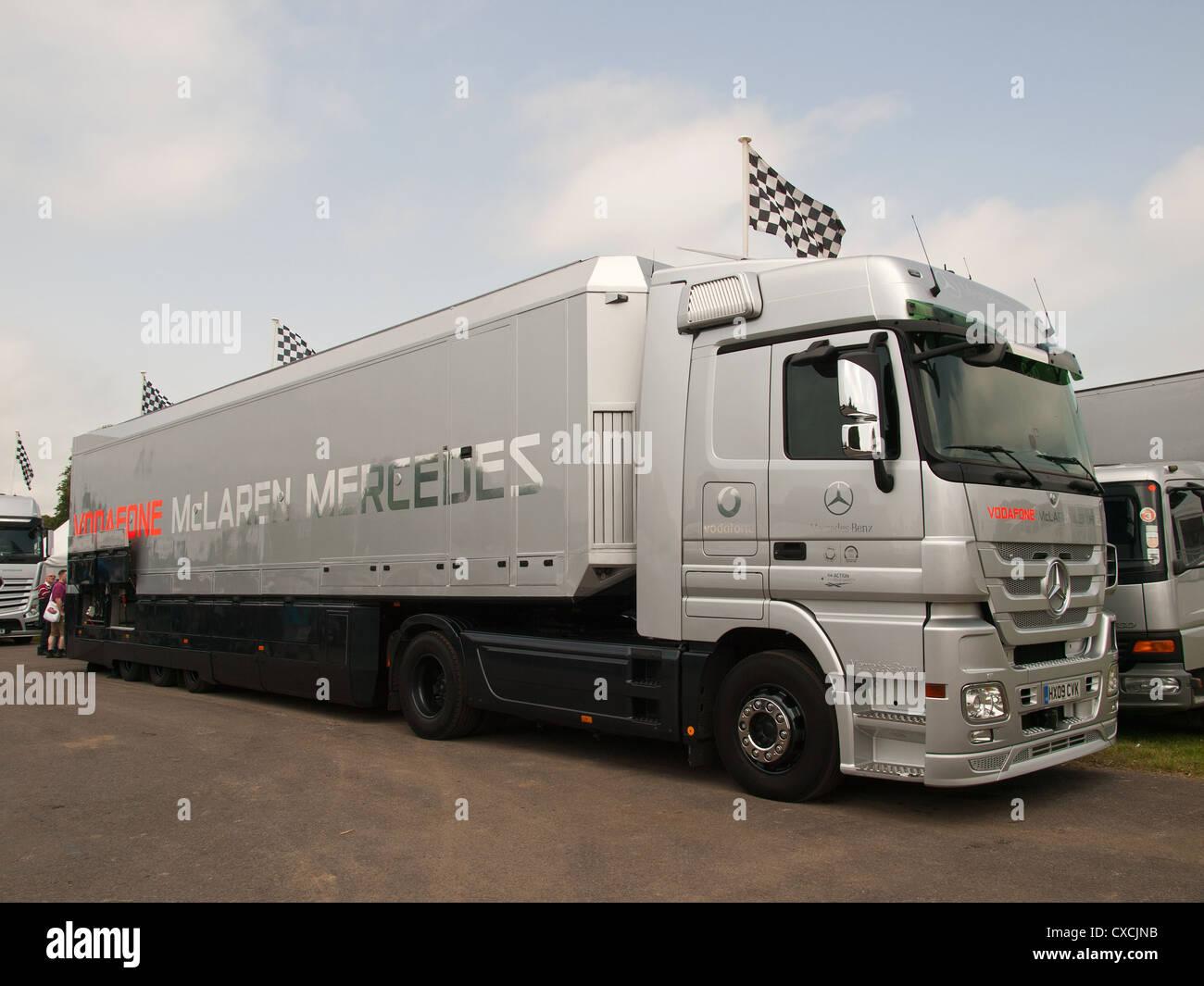 hight resolution of vodafone mclaren mercedes team f1 truck goodwood festival of speed england uk 2012
