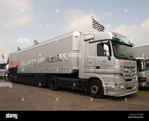 small resolution of vodafone mclaren mercedes team f1 truck goodwood festival of speed england uk 2012