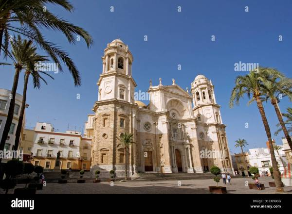 Cathedral Of Cadiz Andalusia Spain Catedral De Andalucia Espa Stock 50744080 - Alamy