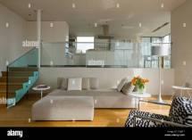 Split-Level Open Kitchen Living Room