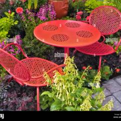 Al S Chairs And Tables Swedish Design Lounge Garden Table Stock Photos In Flower Display Nursery Sherwood Oregon