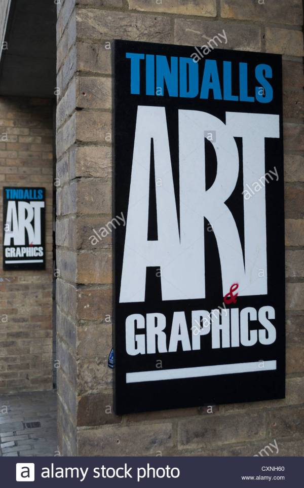 Tindalls Art And Graphics Sign In Cambridge England